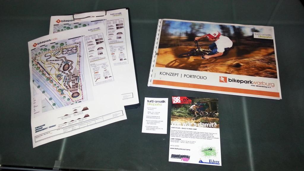 Streckenplan Bikepark / Planungsunterlagen