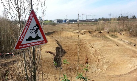 Pumptrack Düsseldorf | Cyclingworld Messe e-MTB Parcours