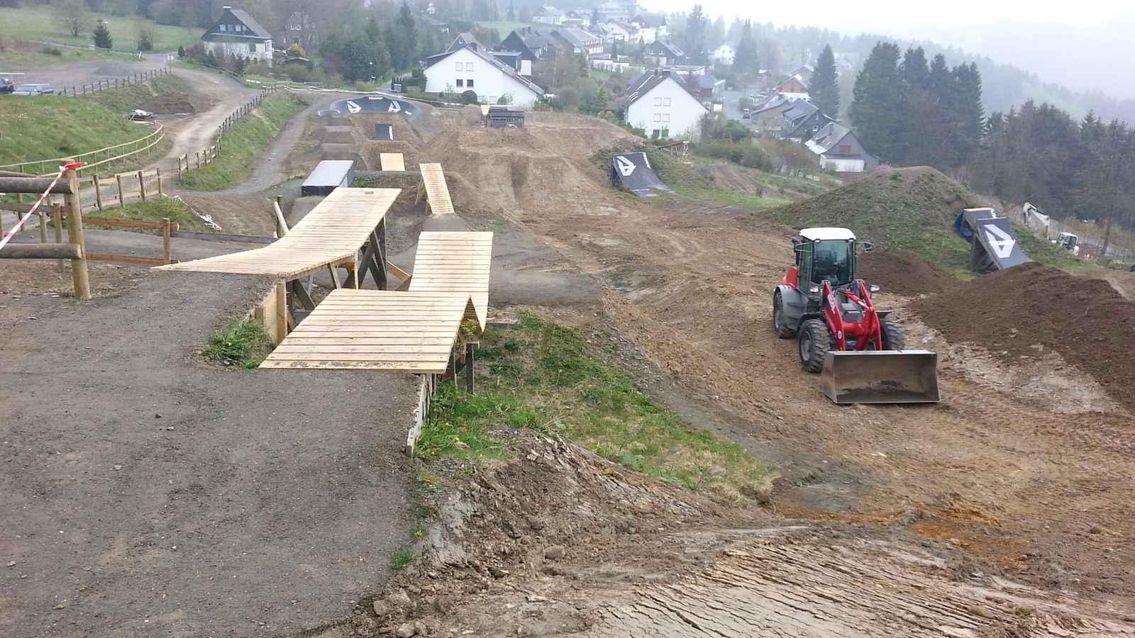 Slopestyle Dirtmasters Bikepark Winterberg Bau 26