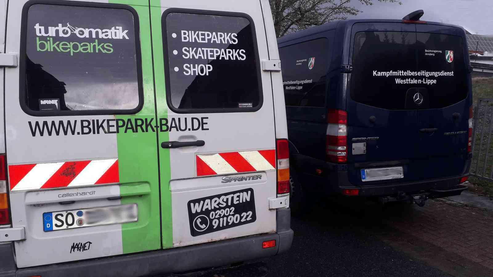 Bomben-Bikepark-Stimmung bei Turbomatik! Kampfmittelräumdienst übernimmt!