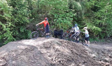 Pump Track Mountainbike Bieberstein, MTB Trailbau in Hessen