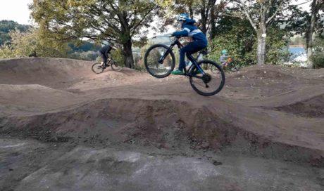 Planung Pumptrack im Garten, Jossgrund, Spessart, Streckenbau Mountainbike